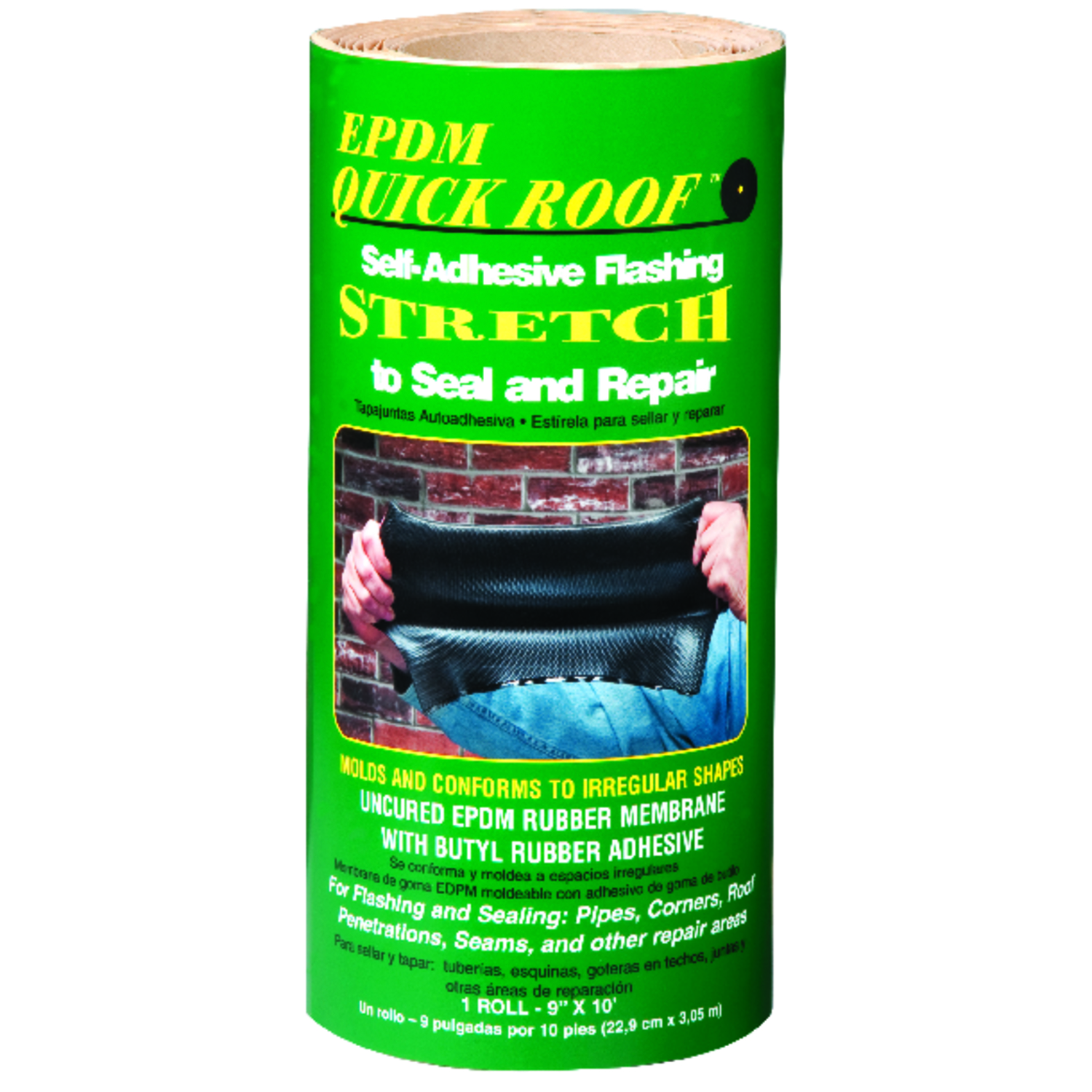 Quick Roof  9 in. H x 9 in. W x 10 ft. L Black  Rubber  Roll  Flashing Tape