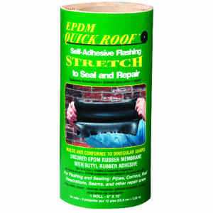 Quick Roof  9 in. H x 9 in. W x 10 ft. L Black  Roll  Rubber  Flashing Tape