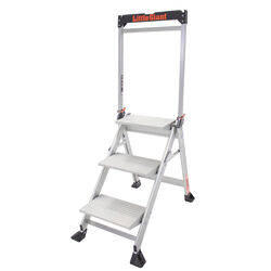 Little Giant  Jumbo Step  43 in. H x 26 in. W Aluminum  Step Ladder  Type IAA  375 lb. capacity