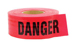 C.H. Hanson  500 ft. L x 3 in. W Polyethylene  Danger  Barricade Tape  Red