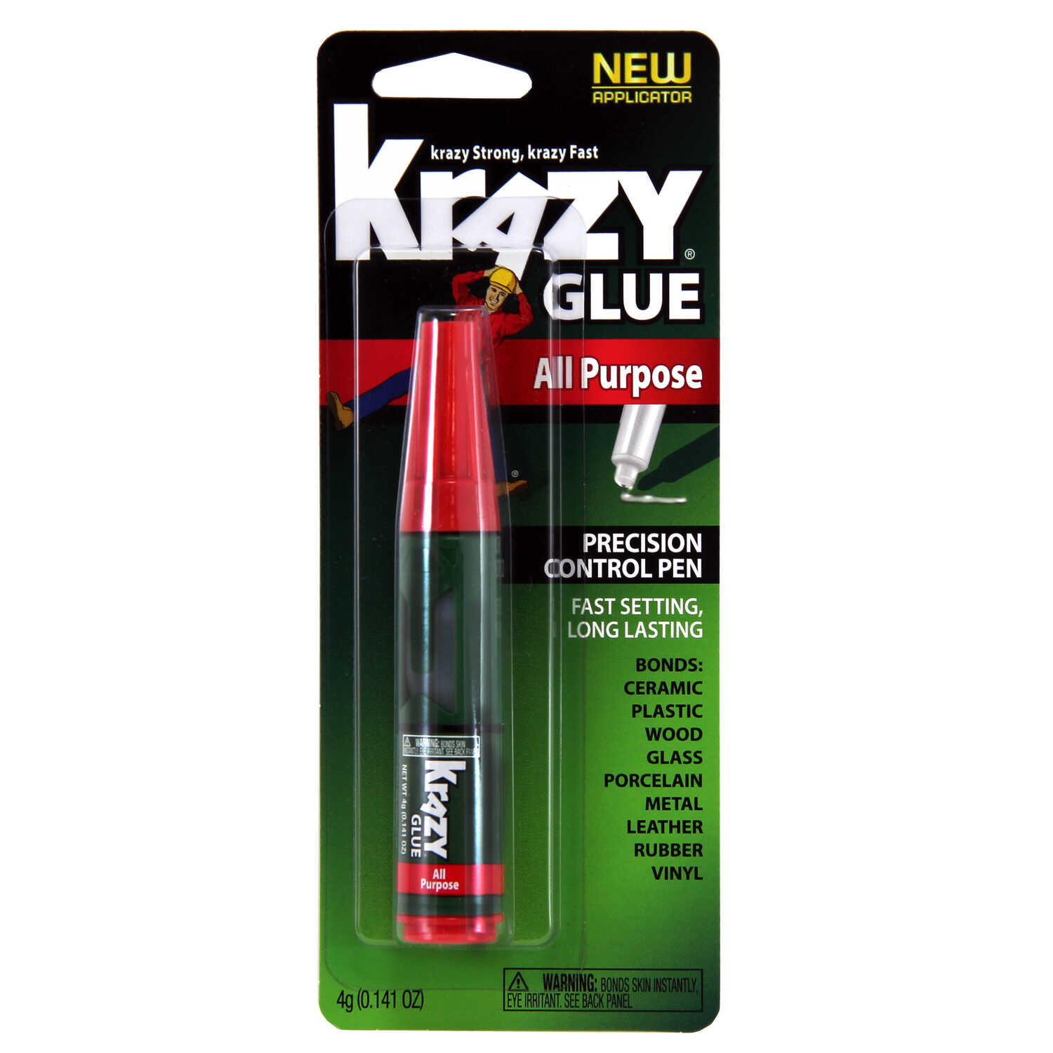 Krazy Glue  High Strength  Polyvinyl acetate homopolymer  All Purpose Super Glue  4