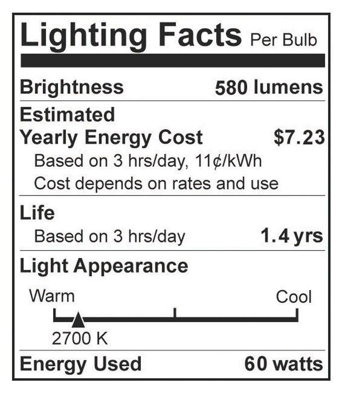 Westinghouse  60 watts B11  Incandescent Bulb  540 lumens White  2 pk Decorative