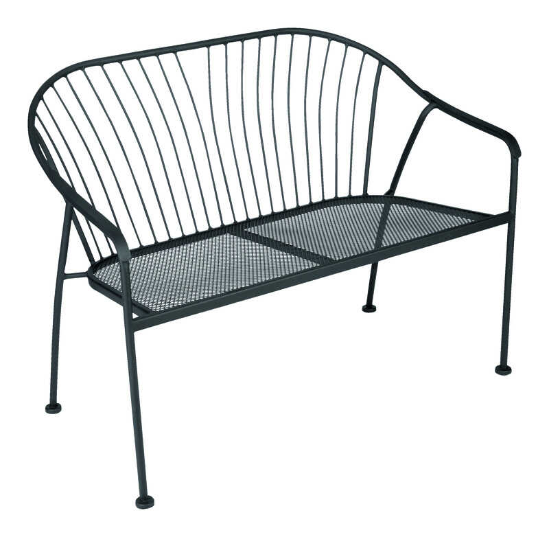 Living Accents Metropolitan Patio Furniture: Living Accents Winston Bench Steel 31.89 In. H X 23.03 In