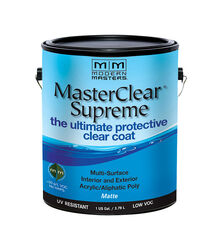 Modern Masters  MasterClear Supreme  Matte  Clear  Water-Based  Protective Coating  1 gal.