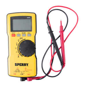 Sperry  4/40/400/750 VAC, 400mV/4/40/400/1000 VDC  LCD  Multimeter