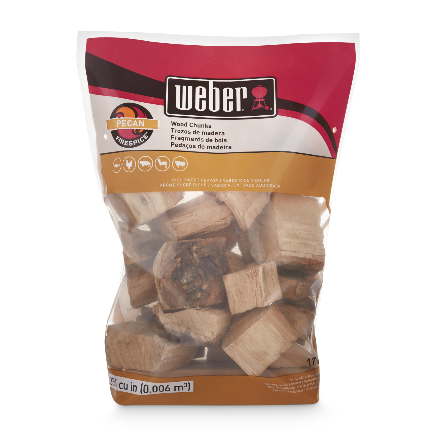 Weber  Firespice  Pecan  Wood Smoking Chunks  350