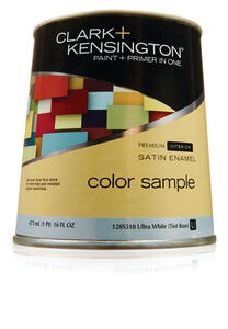 Ace  Clark+Kensington  Satin  Ultra White Base  Acrylic Latex  Paint Sample  1 pt.