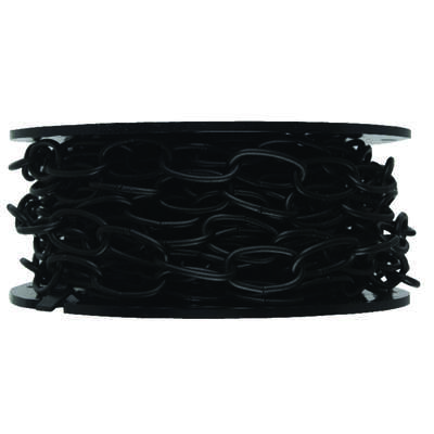 Campbell Chain  10  Black Polycoated  Black  Metal  Decorative Chain  0.14 in. Dia. 1.21 in.