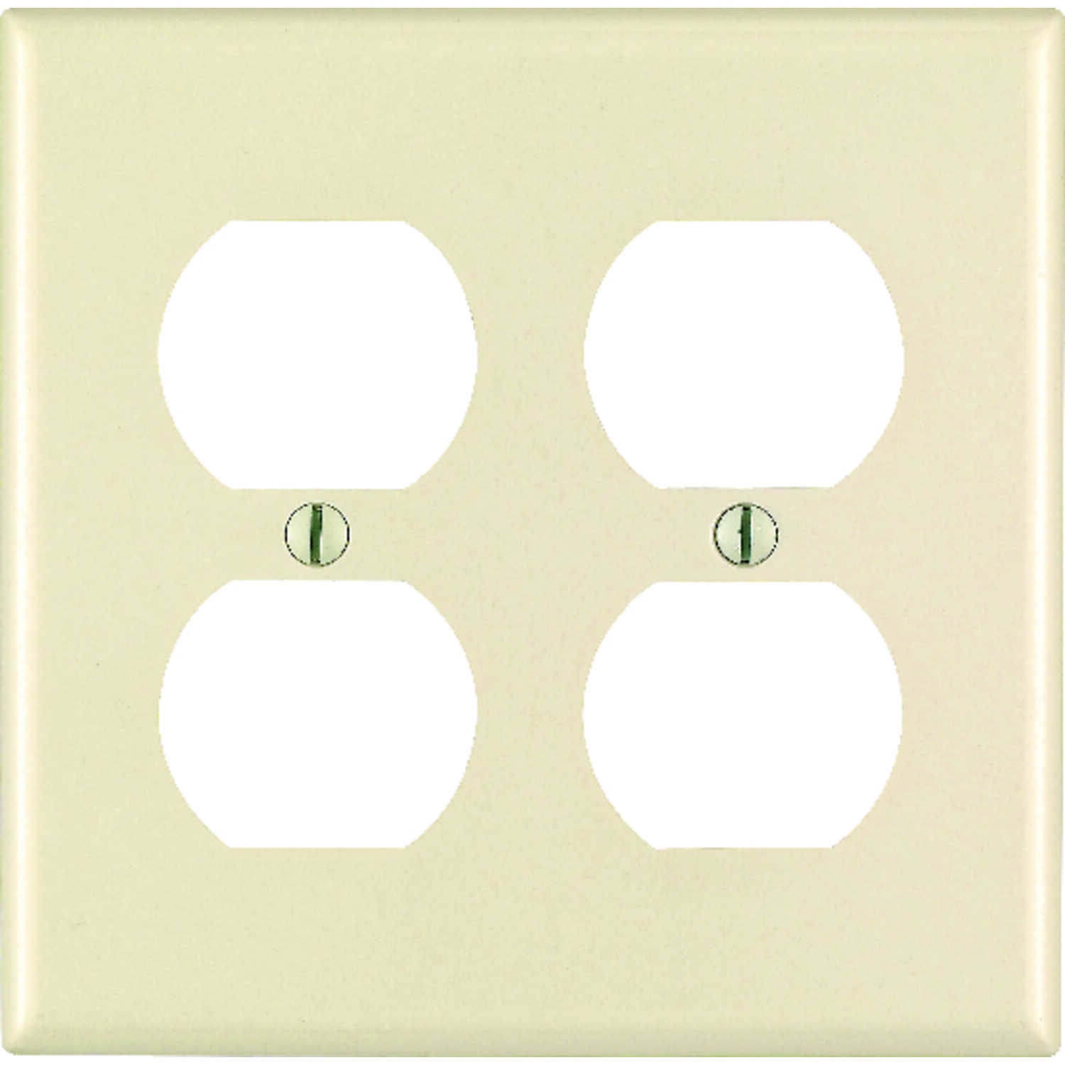 Leviton  Almond  2 gang Plastic  Duplex Outlet  Wall Plate  1 pk