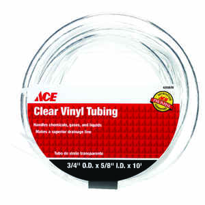 Ace  ProLine  5/8 in. Dia. x 10 ft. L Vinyl Tubing