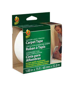 Duck  1.88 in. W x 75 ft. L Polyester  Indoor  Carpet Tape