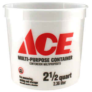 Ace  Clear  2.5 qt. Plastic  Bucket