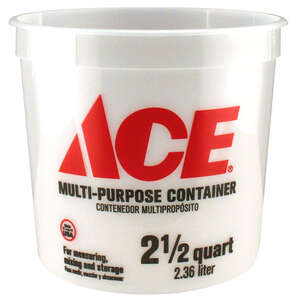 Ace  Clear  2.5 qt. Bucket  Plastic