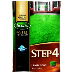 Scotts  Step 4  32-0-12  Lawn Fertilizer  For All Grass Types 37.84 lb. 15000 sq. ft.