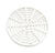 Sioux Chief  6-1/8 in. Round  Polypropylene  Floor Drain Cover