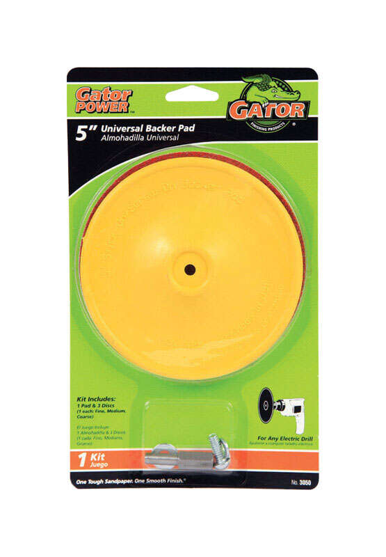 Gator  5 in. Dia. Plastic  Backing Pad  1/4 in.  3000 rpm 1 pc.