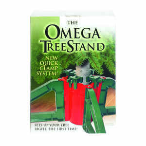 OMEGA  Plastic  Green/Red  Christmas Tree Stand  10 ft. Maximum Tree Height