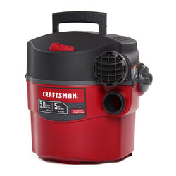 Craftsman  5 gal. Corded  Wet/Dry Vacuum  5 amps 120 volt 5 hp Red  25 lb.