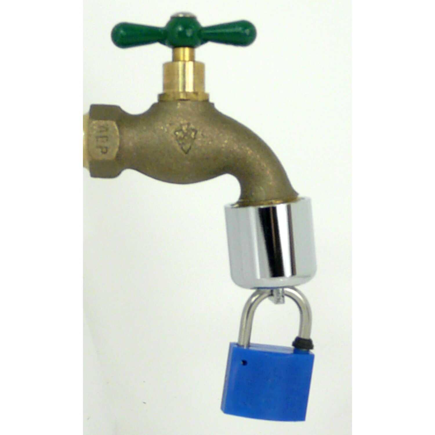 Conservco  Brass  2 in. Hose Bibb Lock with Padlock