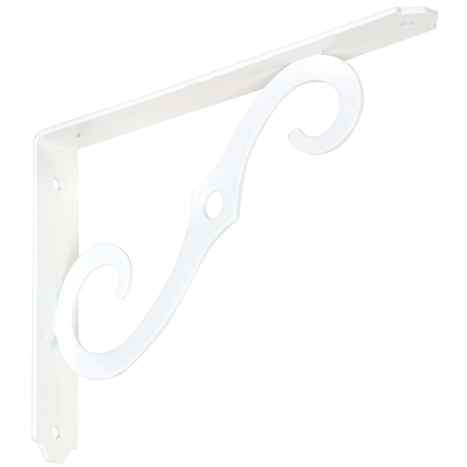 National Hardware White Steel Shelf Bracket 0.94 in. L 80 lb.
