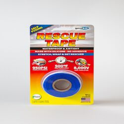 Rescue Tape  Blue  12 ft. L x 1 in. W Silicone Tape  6