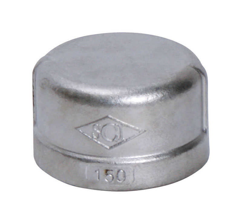 Smith Cooper  1 in. FPT   x 1 in. Dia. FPT  Stainless Steel  Cap