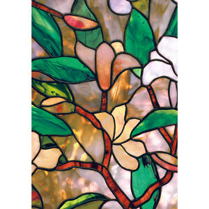 Artscape  Multicolored  Magnolia  Indoor  Window Film  24 in. W x 36 in. L