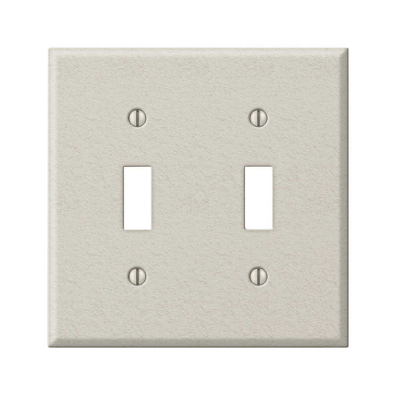 Amerelle  Contractor  2 gang Stamped Steel  Toggle  Wall Plate  1 pk