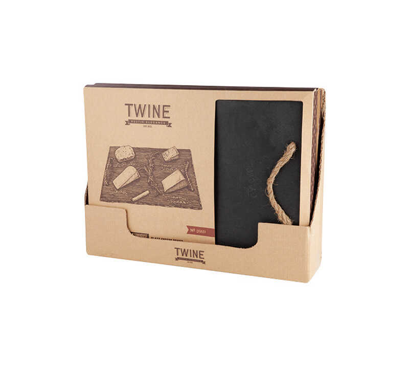 Twine  15-1/2 in. L Black  Cheese Board