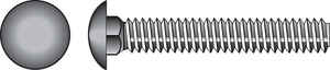 Hillman  1/4 in. Dia. x 2 in. L Zinc-Plated  Steel  Carriage Bolt  100 pk