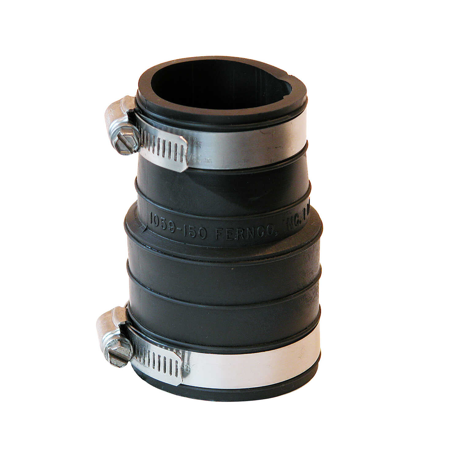 Fernco  Schedule 40  1-1/2 in. Hub   x 1-1/2 in. Dia. Socket  Flexible PVC  For DWV, sewer and drain