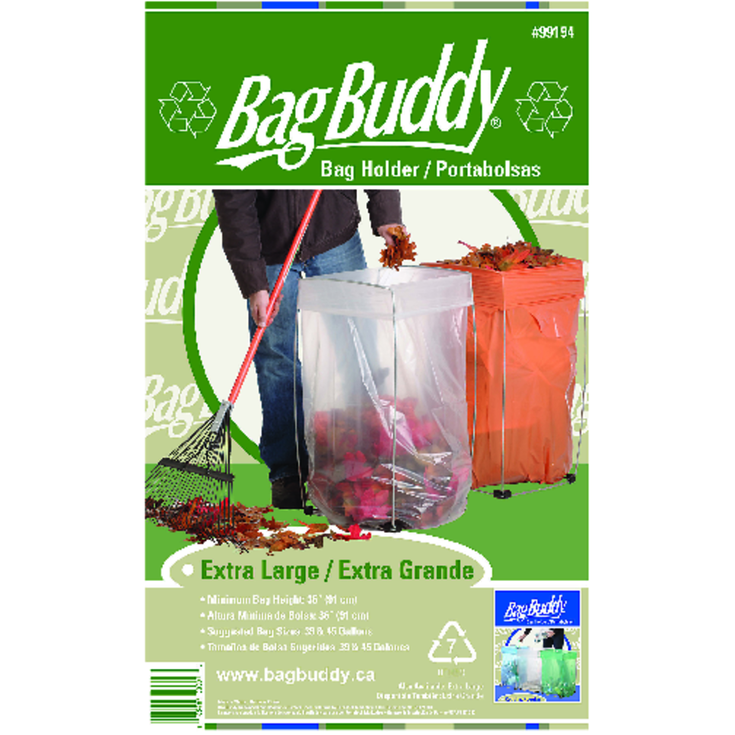 Bag Buddy  45 gal. Steel  Trash Bag Support