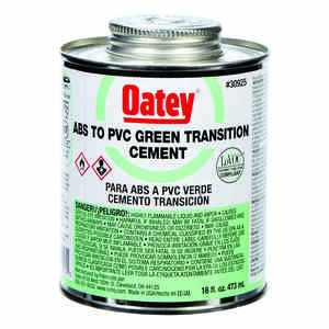 Oatey  Green  For ABS/PVC 16 oz. Transition Cement
