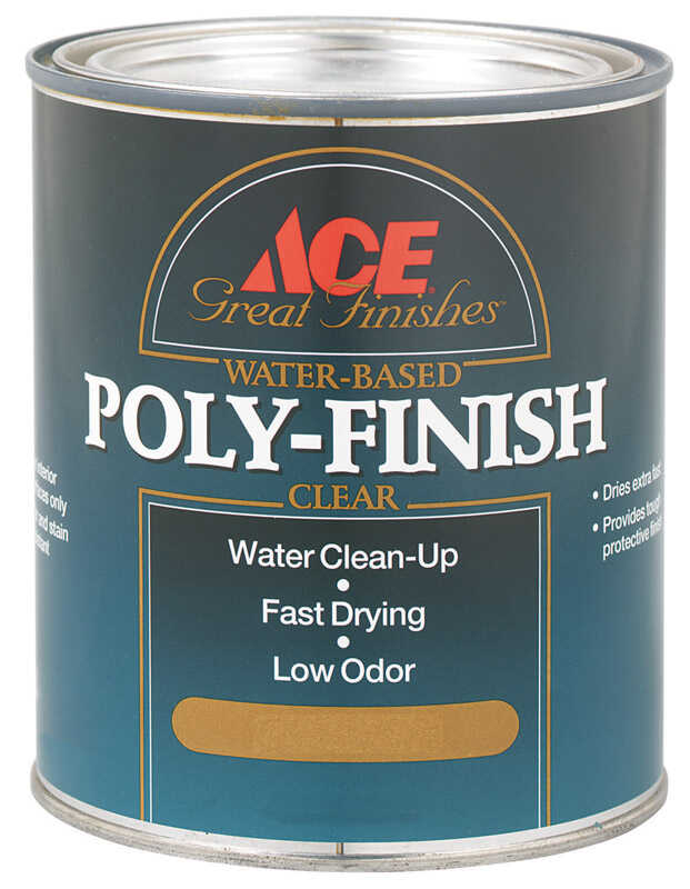 Ace  Semi-Gloss  Clear  Water-Based  Poly Finish  1 qt.