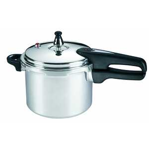 Mirro  Polished Aluminum  Pressure Cooker  4 qt. Black/Silver