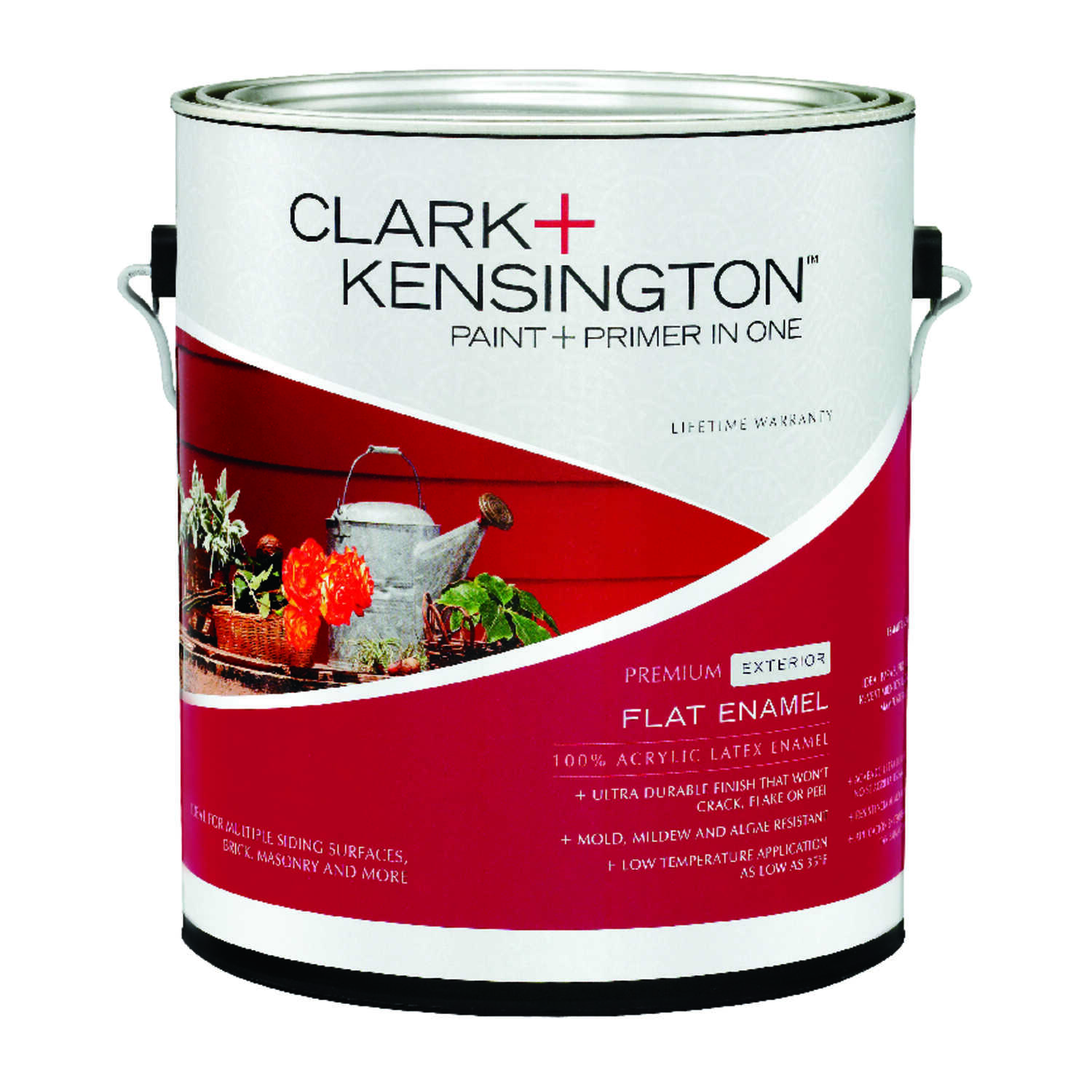 Ace  Clark+Kensington  Flat  Designer White  Acrylic Latex  House Paint  Outdoor  1 gal.