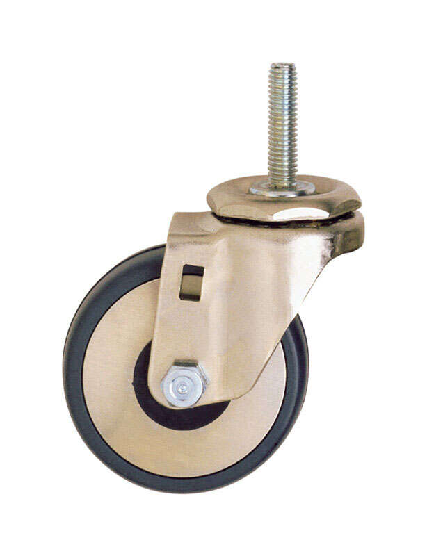InterMetro  3 in. Dia. Swivel Hard Rubber  Caster  300 lb. 1 pk