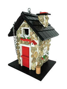 Home Bazaar  9.45 in. H x 7.1 in. W x 6.3 in. L Wood  Bird House