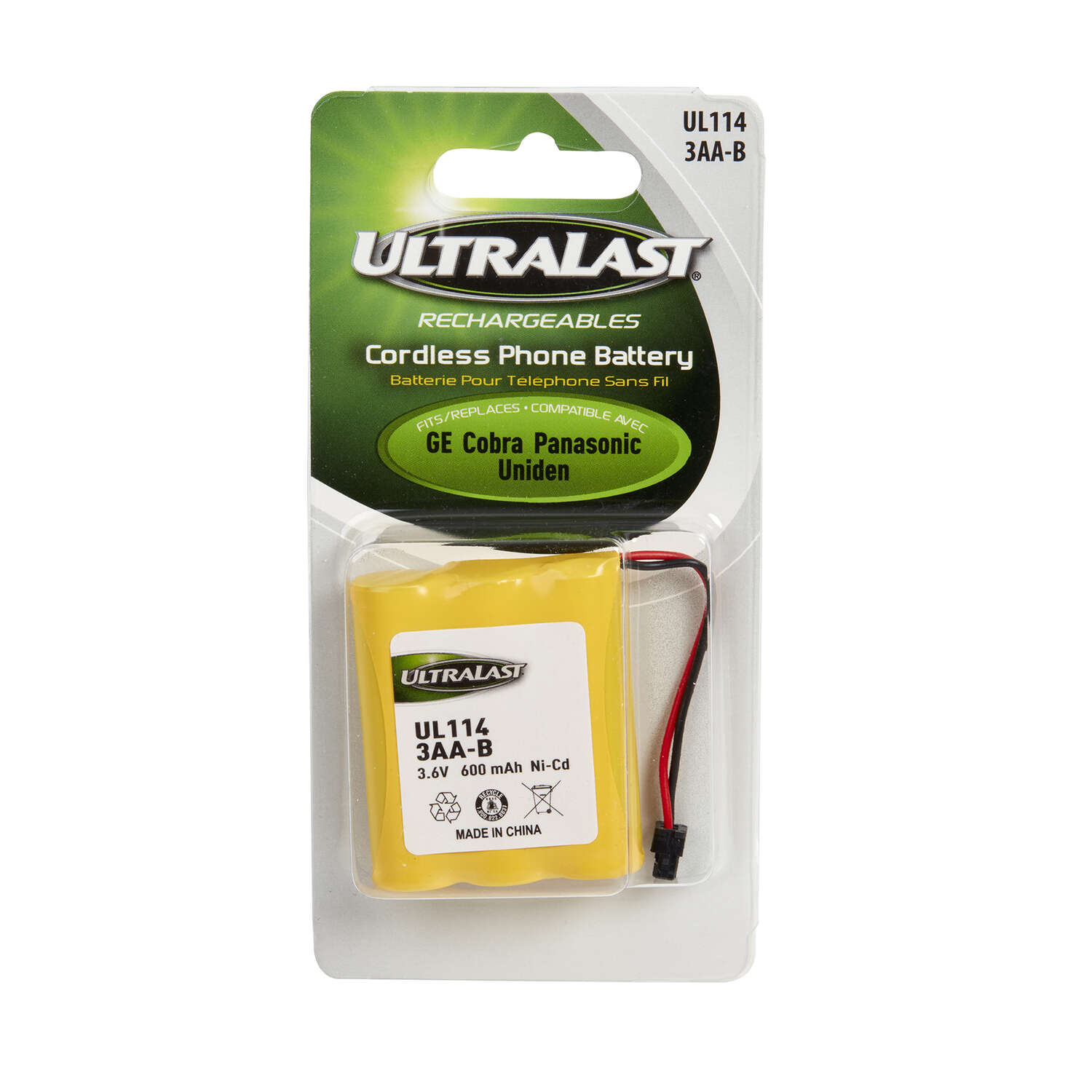 UltraLast  Ni-Cad  AA  3.6 volt Cordless Phone Battery  3AA-B  1 pk