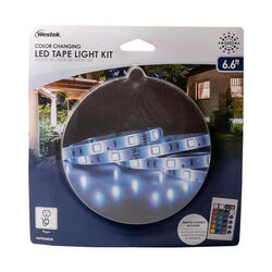 Westek  6.6 in. L Color Changing  Plug-In  LED  Tape Light Kit  1 pk