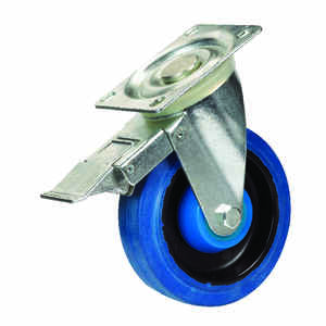 Shepherd  4 in. Dia. Swivel Rubber  Caster  265 lb. 1 pk