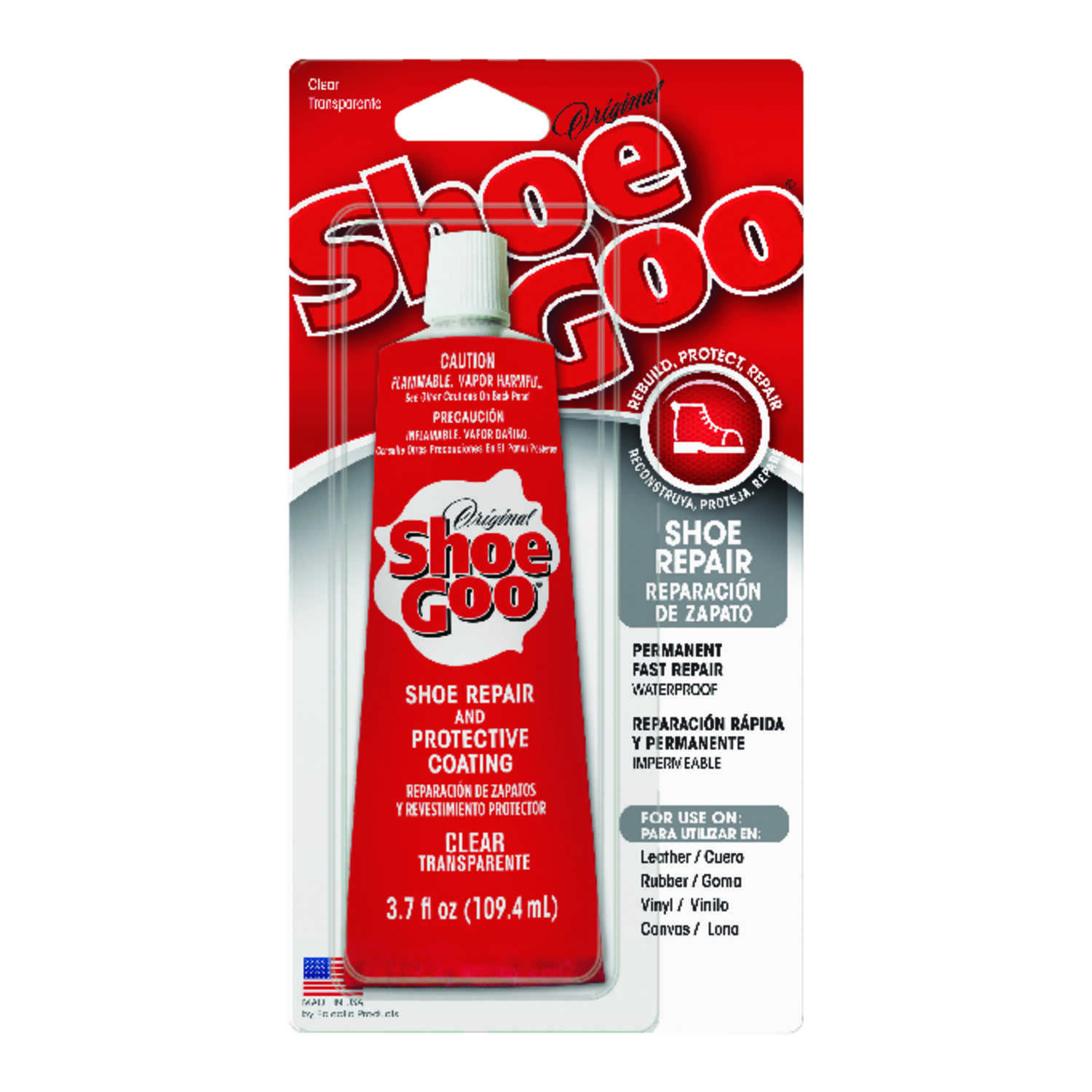 Shoe Goo  Clear  Shoe Repair and Protective Coating  3.7 oz.