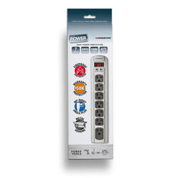 Monster  Just Power It Up  1080 J 4 ft. L 7 outlets Surge Protector