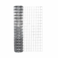 Garden Craft  48 in. H x 50 ft. L Galvanized Steel  Garden  Fence  Silver