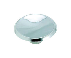 Amerock  Allison  Round  Cabinet Knob  1-1/2 in. Dia. 5/8 in. Polished Chrome  10 pk