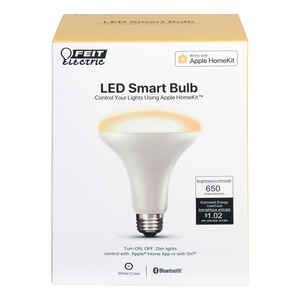 FEIT Electric  BR30  E26 (Medium)  LED Smart Bulb  White  65 Watt Equivalence 1 pk
