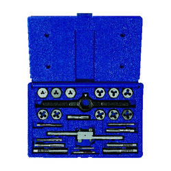 Irwin  Hanson  Steel  Metric  Tap and Die Set  24 pc.