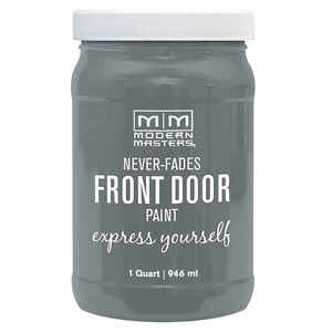 Modern Masters  Satin  Mysterious  Front Door Paint  1 qt.