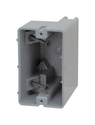Madison Electric  Smart Box  3.75 in. Rectangle  PVC  Electrical Box  Gray