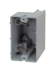 Madison Electric  Smart Box  Rectangle  PVC  Electrical Box  Gray  1 Gang  3.75 in.